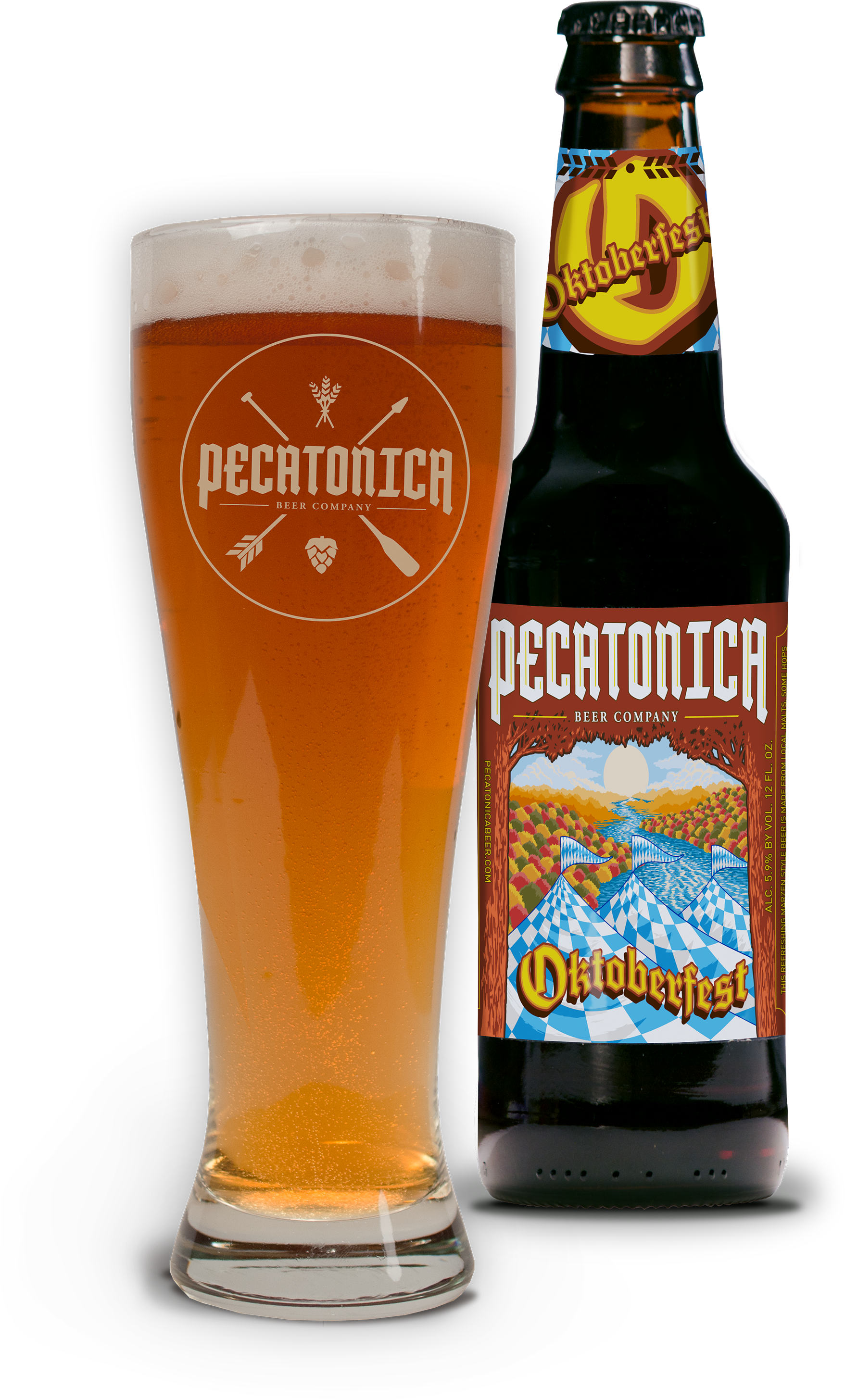 PBC Oktoberfest Beer and bottle